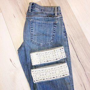 Lucky Brand Sienna Tomboy Crop Jeans Crochet Cuff